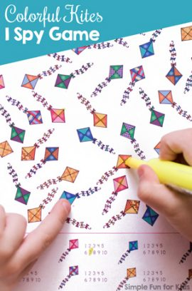 Colorful Kites I Spy Game Printable