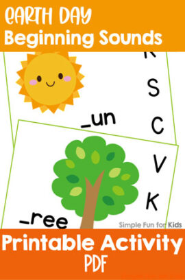 Earth Day Beginning Sound Clip Cards