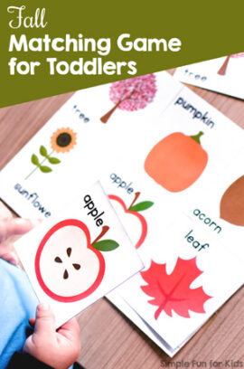 Fall Matching Game for Toddlers