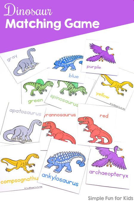 graphic relating to Dinosaur Matching Game Printable known as Dinosaur Matching Sport for Infants - Straightforward Enjoyment for Small children