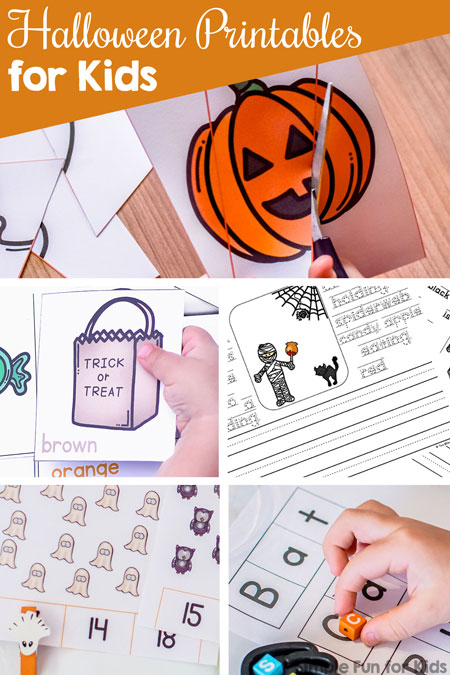 picture relating to Halloween Printable Games named Halloween Printables for Small children - Basic Enjoyable for Small children