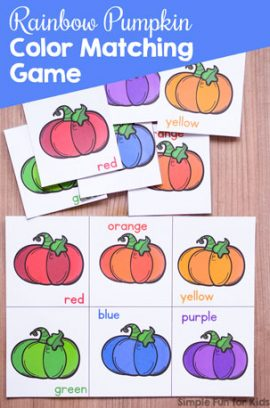 Rainbow Pumpkin Color Matching Game