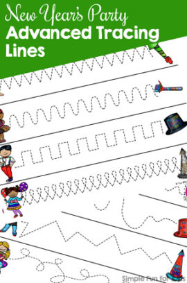 New Year's Party Advanced Tracing Lines