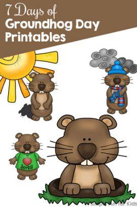 7 Days of Groundhog Day Printables for Kids