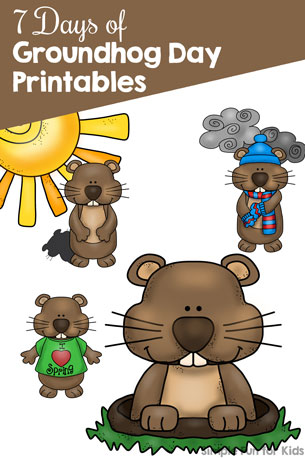 Follow along with the 7 Days of Groundhog Day Printables for Kids for fun educational printables for toddlers, preschoolers, and kindergarteners. There are both literacy and math themes!