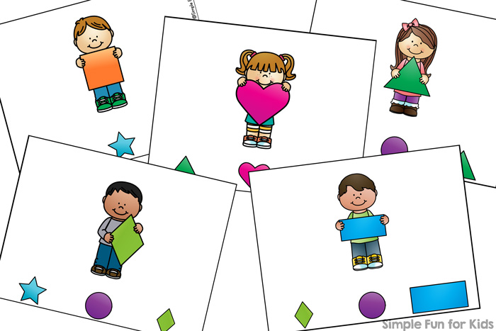 Shape Matching Clip Cards for Toddlers - Simple Fun for Kids
