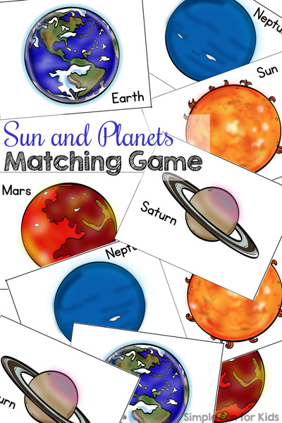 Sun and Planets Matching Game