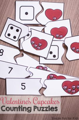 Self-Correcting Valentine's Cupcakes Counting Puzzles