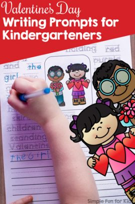 Valentine's Day Writing Prompts for Kindergarteners Printable