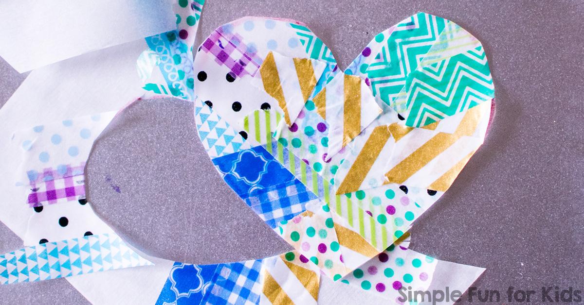Washi Tape Hearts Simple Fun For Kids