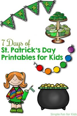 7 Days of St. Patrick's Day Printables for Kids