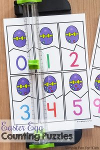 Practice how to count to 10 with these cute printable Easter egg counting puzzles! Perfect for preschoolers who are learning to count. My daughter thought they were super fun :)