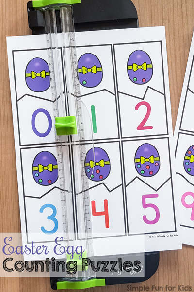 Easter Egg Counting Puzzles Printable