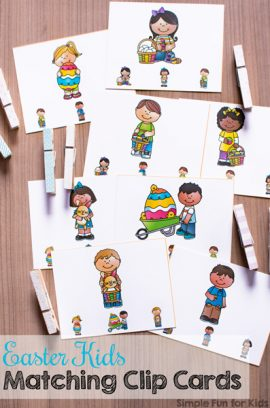 Easter Kids Matching Clip Cards