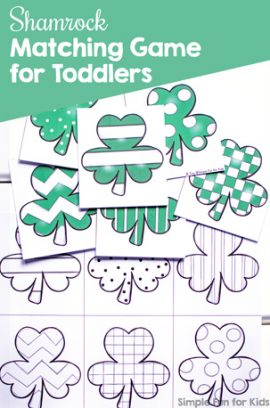 Shamrock Matching Game for Toddlers