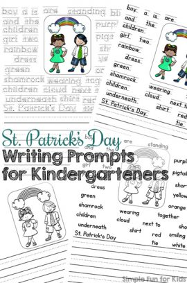 St. Patrick's Day Writing Prompts for Kindergarteners