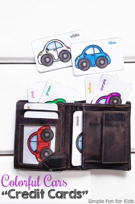 Colorful Cars Credit Cards