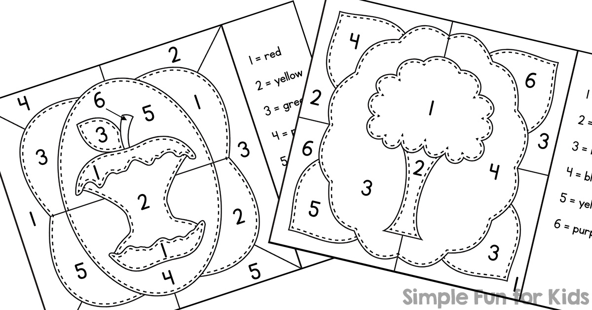 - Earth Day Color By Numbers Mini Coloring Pages - Simple Fun For Kids