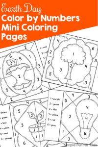 celebrate earth day in a fun educational way with these printable earth day color by number - Coloring Pages Kindergarteners