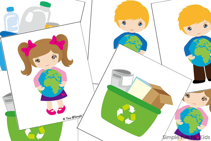 So cute! This Earth Day Matching Game for Toddlers is great as a conversation starter or just for fun while working on 1:1 correspondence and visual discrimination.