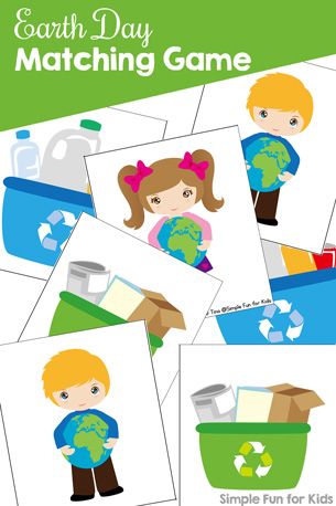 Earth Day Matching Game for Toddlers