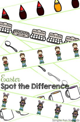 Easter Spot the Difference Printable