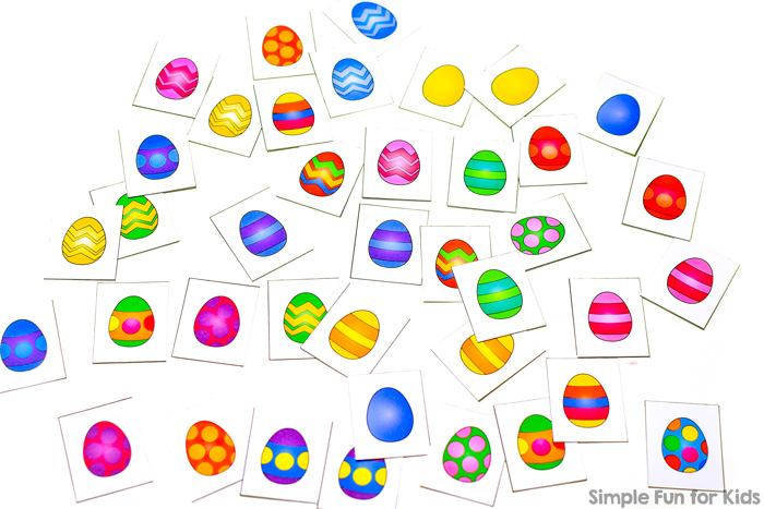 photo regarding Printable Easter Games identified as Easter Egg Memory Match - Uncomplicated Enjoyment for Children