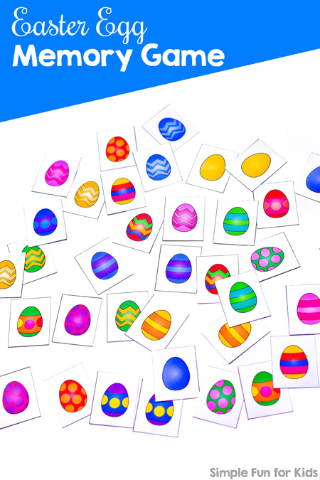 graphic about Printable Memory Game named Easter Egg Memory Video game - Uncomplicated Entertaining for Young children
