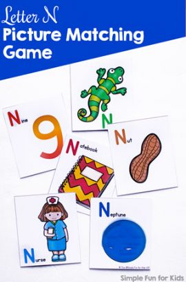Letter N Picture Matching Game
