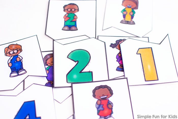 Are your kids working on basic math skills? They'll love these cute printable number matching puzzles featuring numbers 1-12.