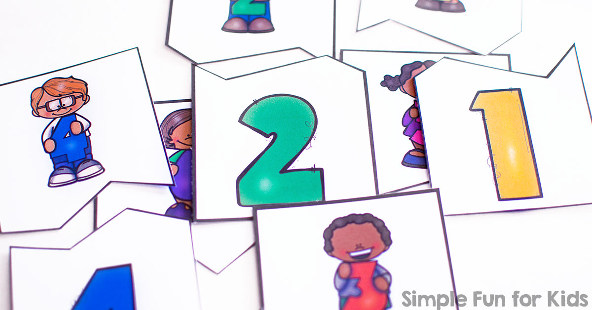 Number Matching Puzzles for Preschoolers - Simple Fun for Kids
