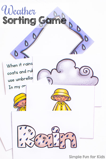 image relating to Printable Weather known as Printable Temperature Sorting Match - Uncomplicated Entertaining for Young children