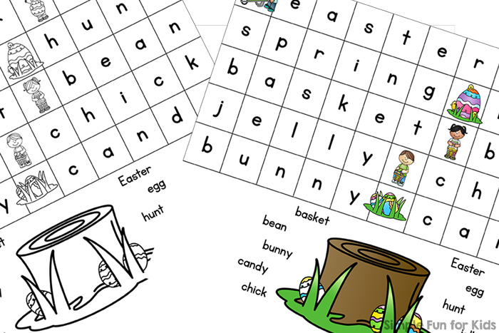 photo about Word Searches for Kindergarteners Printable identify Tremendous Easy Easter Phrase Appear for Kindergarteners - Very simple