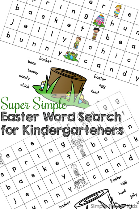 Learning to read? Try this cute printable Super Simple Easter Word for Kindergarteners! (Day 3 of the 7 Days of Easter Printables for Kids series.)