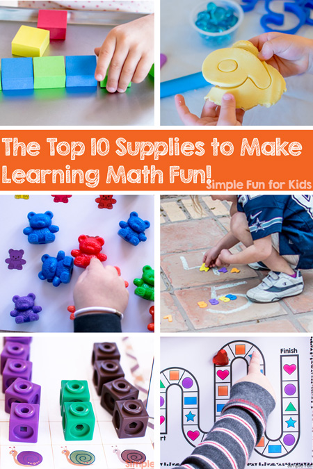 Think math is necessary but boring? Think again! Check out the top 10 supplies to make learning math fun for toddlers, preschoolers, kindergarteners, and elementary students.