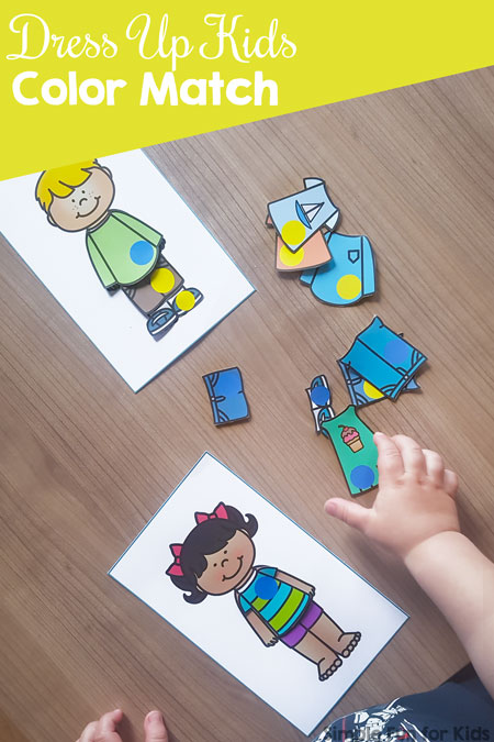 Dress Up Kids Color Match Printable Simple Fun For Kids