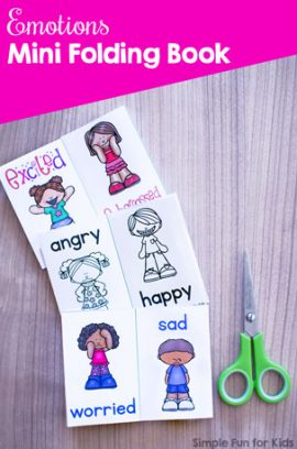 Emotions Mini Folding Book Printable
