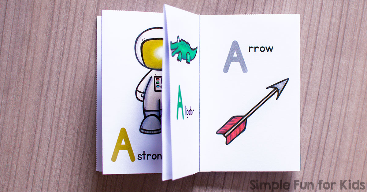 Letter A Mini Folding Book - Simple Fun for Kids
