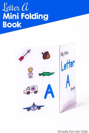 Letter A Mini Folding Book