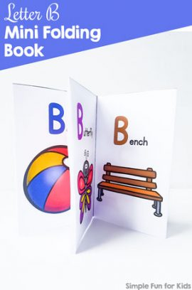 Letter B Mini Folding Book Printable