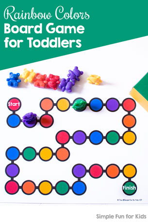 Rainbow Colors Board Game for Toddlers Simple Fun for Kids