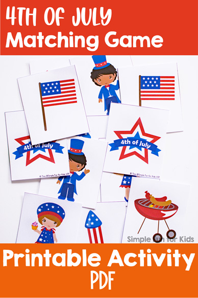 4th of July Matching Game for Toddlers