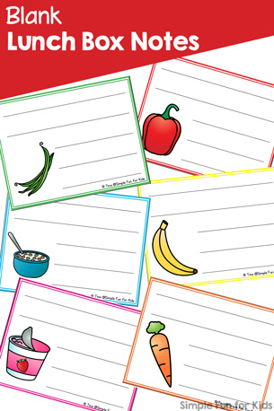 Blank Lunch Box Notes