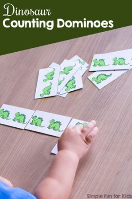 Dinosaur Counting Dominoes