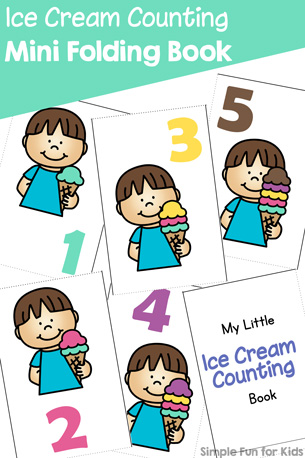 Ice Cream Counting Mini Folding Book Printable
