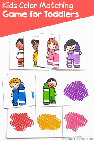 Kids Color Matching Game for Toddlers Printable