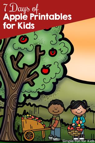 7 Days of Apple Printables for Kids