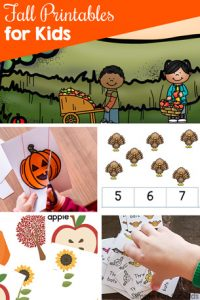 Have fun and learn with these cute fall printables for kids! There are many different math and literacy themes for toddlers, preschoolers, and kindergarteners. Includes games, clip cards, fine motor activities, and more!