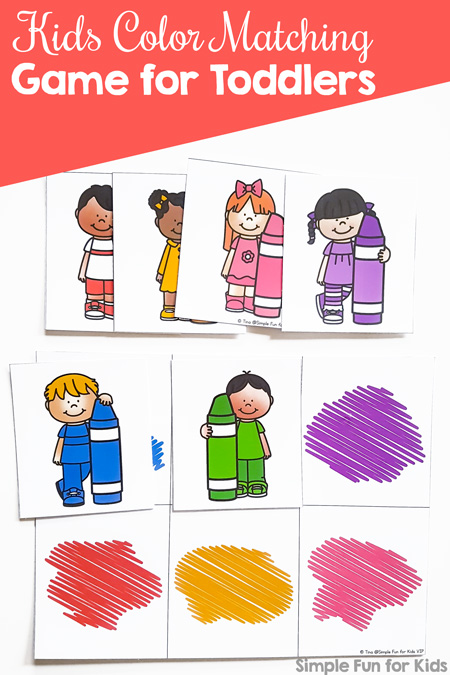 image regarding Printable Colors identify Little ones Shade Matching Match for Infants Printable - Easy Enjoyable