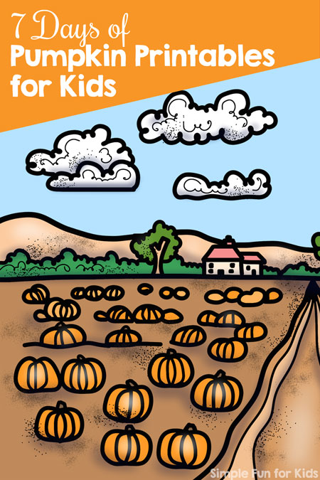 Learn and have fun with these cute fall-themed printables: Follow along with the 7 Days of Pumpkin Printables for toddlers, preschoolers, and kindergarteners!